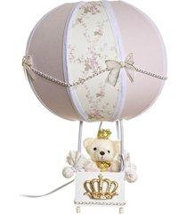 abajur balã£ozinho ursinha princesa beb㪠infantil potinho de mel rosa - rosa - menina - dafiti