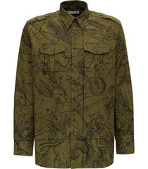 givenchy army shirt in cotton with astral pattern