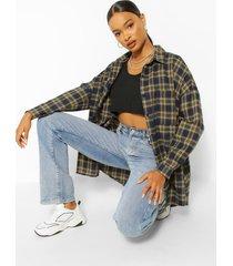 extreem oversized geruite blouse