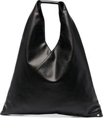 mm6 maison margiela slouchy top handle tote bag - black