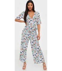 pieces pcduna 2/4 aop cropped jumpsuit jumpsuits