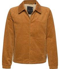 sherpa-lined corduroy coach jacket jeansjack denimjack beige scotch & soda