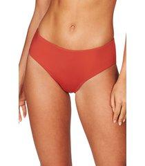 women's sea level bikini bottoms, size 14 us - orange