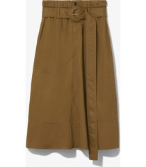 proenza schouler white label belted cotton skirt fatigue/yellow 6