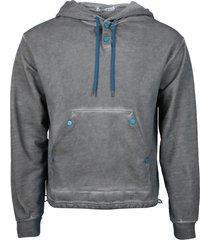 grey two tone hoodie