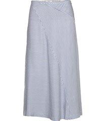 midi length skirt in bias cut knälång kjol blå scotch & soda