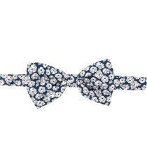 canali floral print bow tie - blue