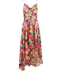 alice + olivia christina viscose dress