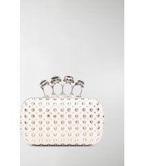 alexander mcqueen crystal-embellished clutch bag
