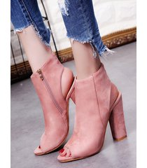 tacones altos peep toe