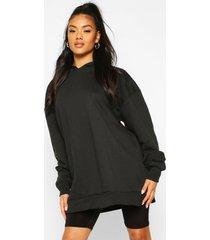 extreem oversized hoodie, zwart