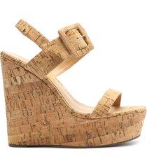 hattie cork wedge sandal - 10 natural cork cork