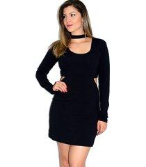 vestido up side wear choker preto