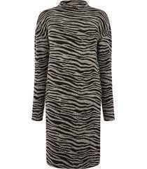 jurk tunnelhals en tijgerprint