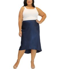 women's plus size heavy charm uneven hem skirt