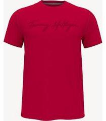 tommy hilfiger essential signature t-shirt apple red - xxxl