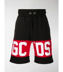 gcds logo panel track shorts
