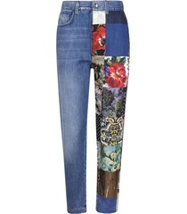 dolce & gabbana multi-patched denim jeans