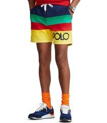 men's polo ralph lauren stripe shorts, size x-large - yellow
