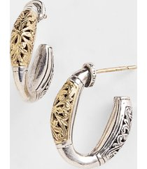 konstantino 'classics' two-tone hoop earrings in silver/gold at nordstrom