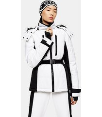 *white and black colour block ski jacket by topshop sno - monochrome