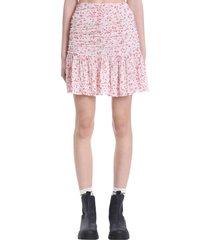 ganni skirt in white viscose