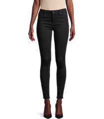 allsaints women's grace skinny jeans - jet black - size 26 (2-4)