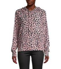stevie leopard-print hoodie