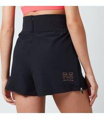 p.e nation women's box out shorts - black blk - l