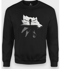 bluza biały wilk