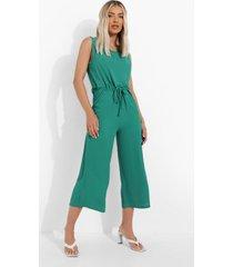 baggy culotte jumpsuit met touwtjes, green