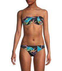 love moschino women's fantasia print bandeau bikini top - nero - size 1 (s)