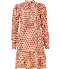 jurk met print ris  rood