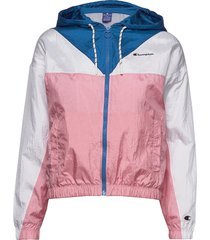 hooded full zip sweatshirt zomerjas dunne jas roze champion