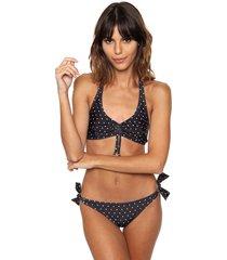 bikini  negra brillantina  versalles cruz