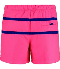 shiwi zwembroek 2 stripe colour block bright pink