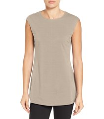 women's nic+zoe perfect layer tank, size x-small - beige