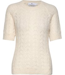 georgina pointelle t-shirts & tops knitted t-shirts/tops crème arnie says