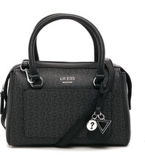 bolso gris-negro guess