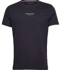 sl logo s/s tee t-shirts short-sleeved blå tommy hilfiger