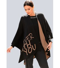 cape alba moda zwart::cognac