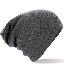 gorro lana unisex - color gris oscuro
