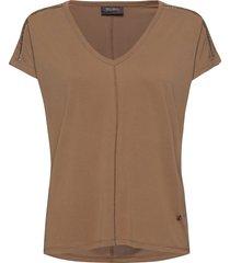 lennox v-ss tee t-shirts & tops short-sleeved beige mos mosh