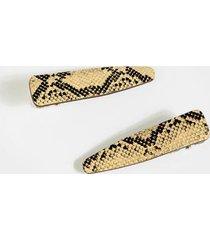 charlotte snake hair clips - snake