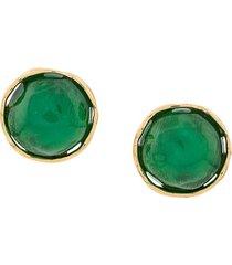 yves saint laurent pre-owned 1980s summer earrings - green