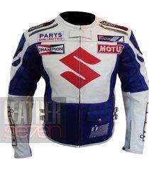 suzuki 4269 icon white leather motorcycle motorbike  pure cowhide armour jacket