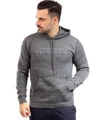 casaco de malha com bolso sumaré masculino