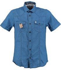 petrol blauw overhemd