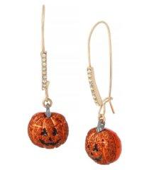 betsey johnson pumpkin dangle earrings