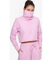 bam by betsy & adam cropped hoodie & face mask, created for macy's